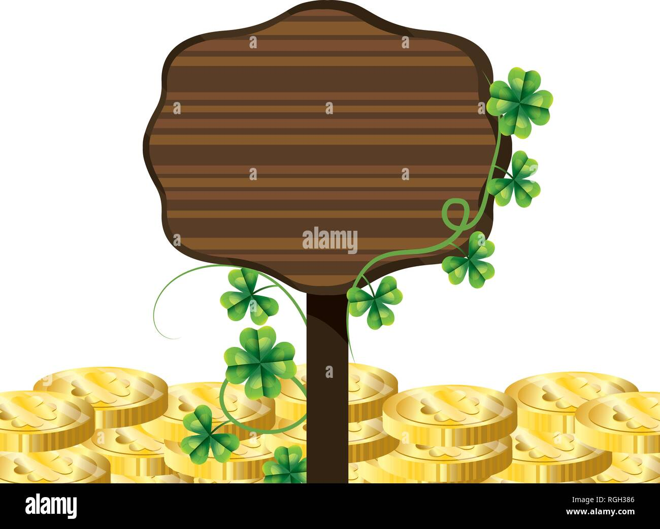 coin gold sign - Stock Image