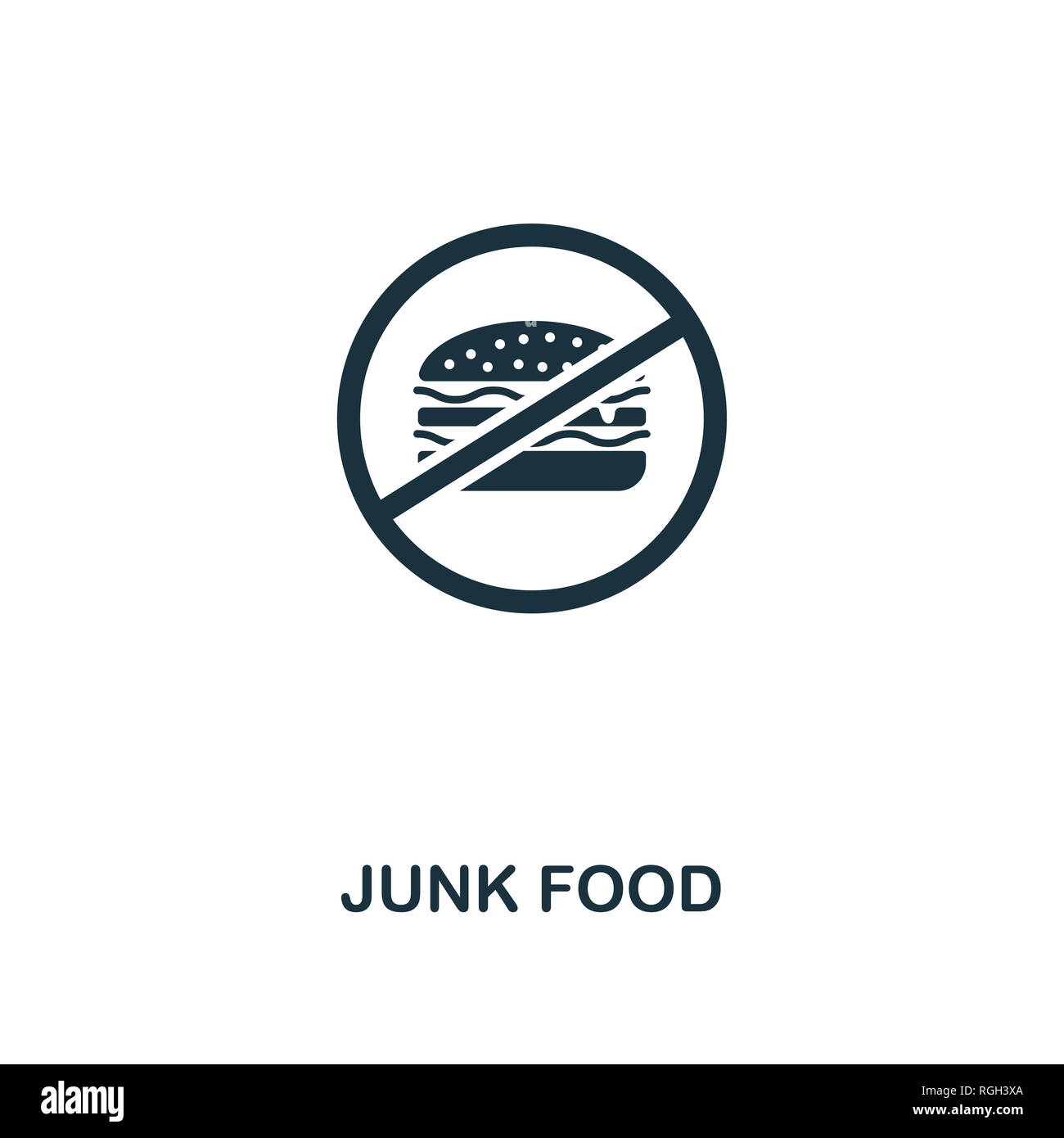 Junk Food icon. Premium style design from fitness collection. Pixel perfect junk food icon for web design, apps, software, printing usage. - Stock Image