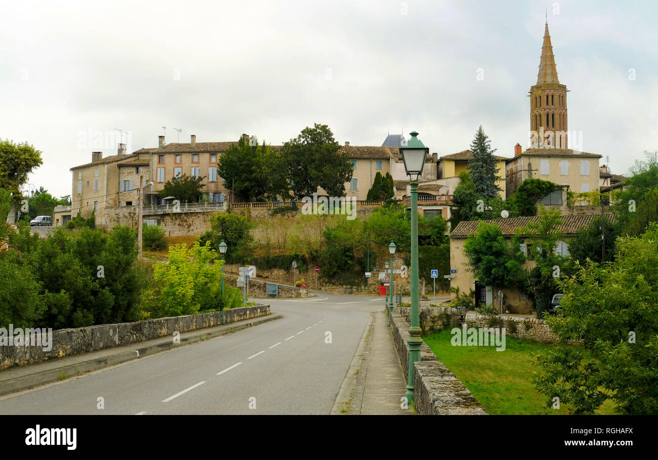 Saint Antonin Noble Val is a commune in the Occitanie region in southern France. - Stock Image