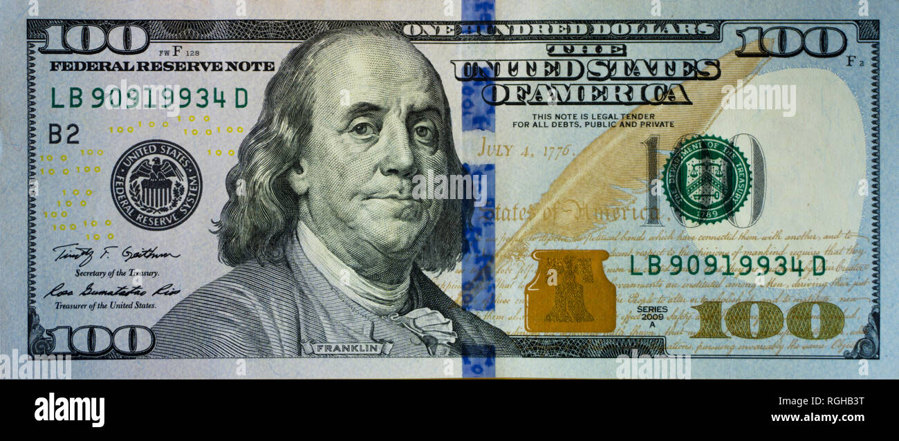 New 100 Dollar Bill High Resolution Stock Photography And Images Alamy
