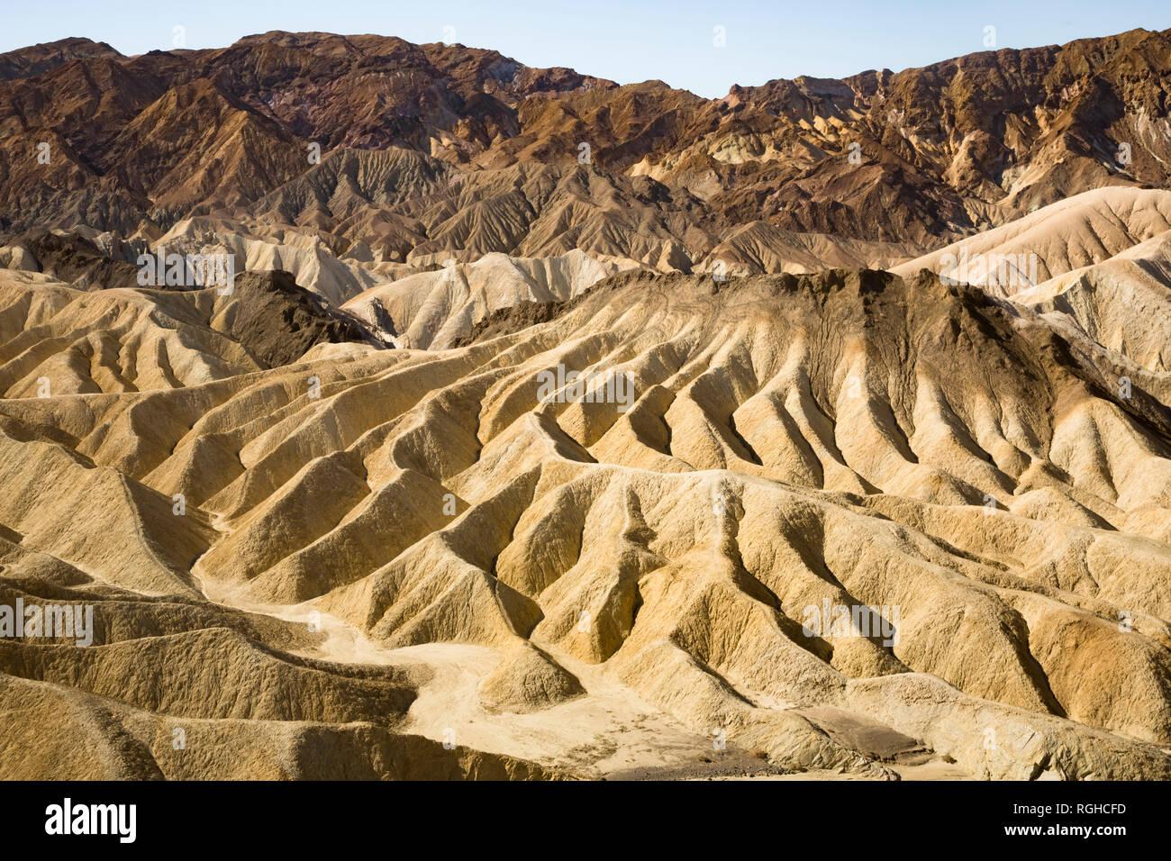 USA, Californien, Death Valley, Death Valley National Park, Zabriskie Point - Stock Image