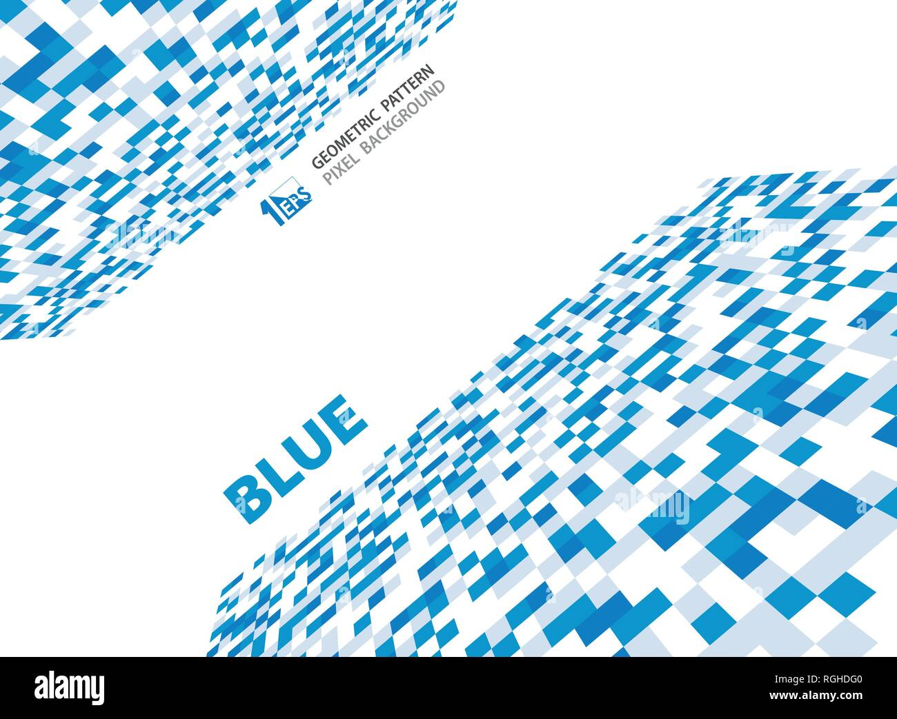 Abstract pixel blue geometric pattern design. Small decorating details of illustration. vector eps10 - Stock Vector