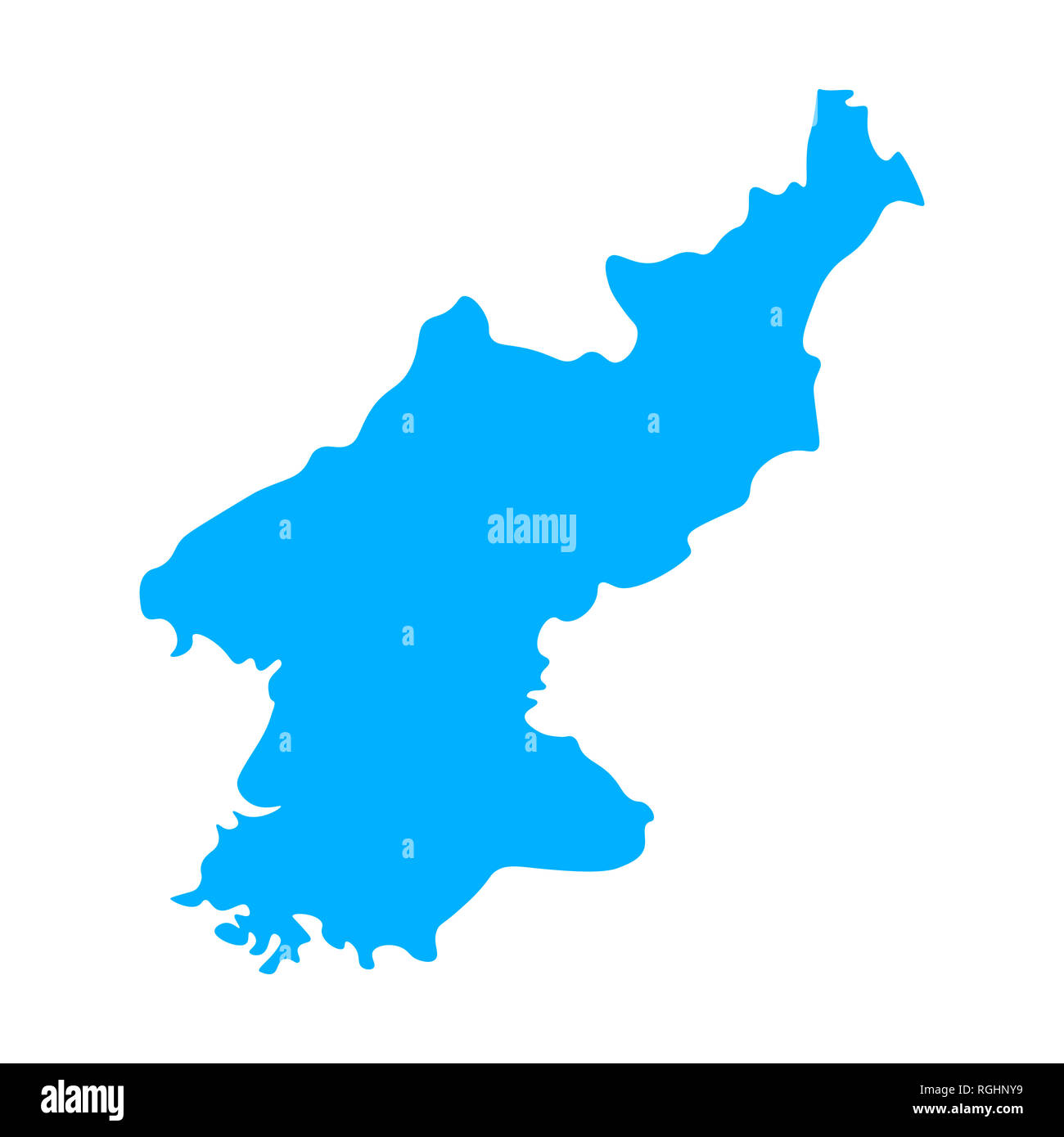 Map Of North Korea Outline Silhouette Of North Korea Map