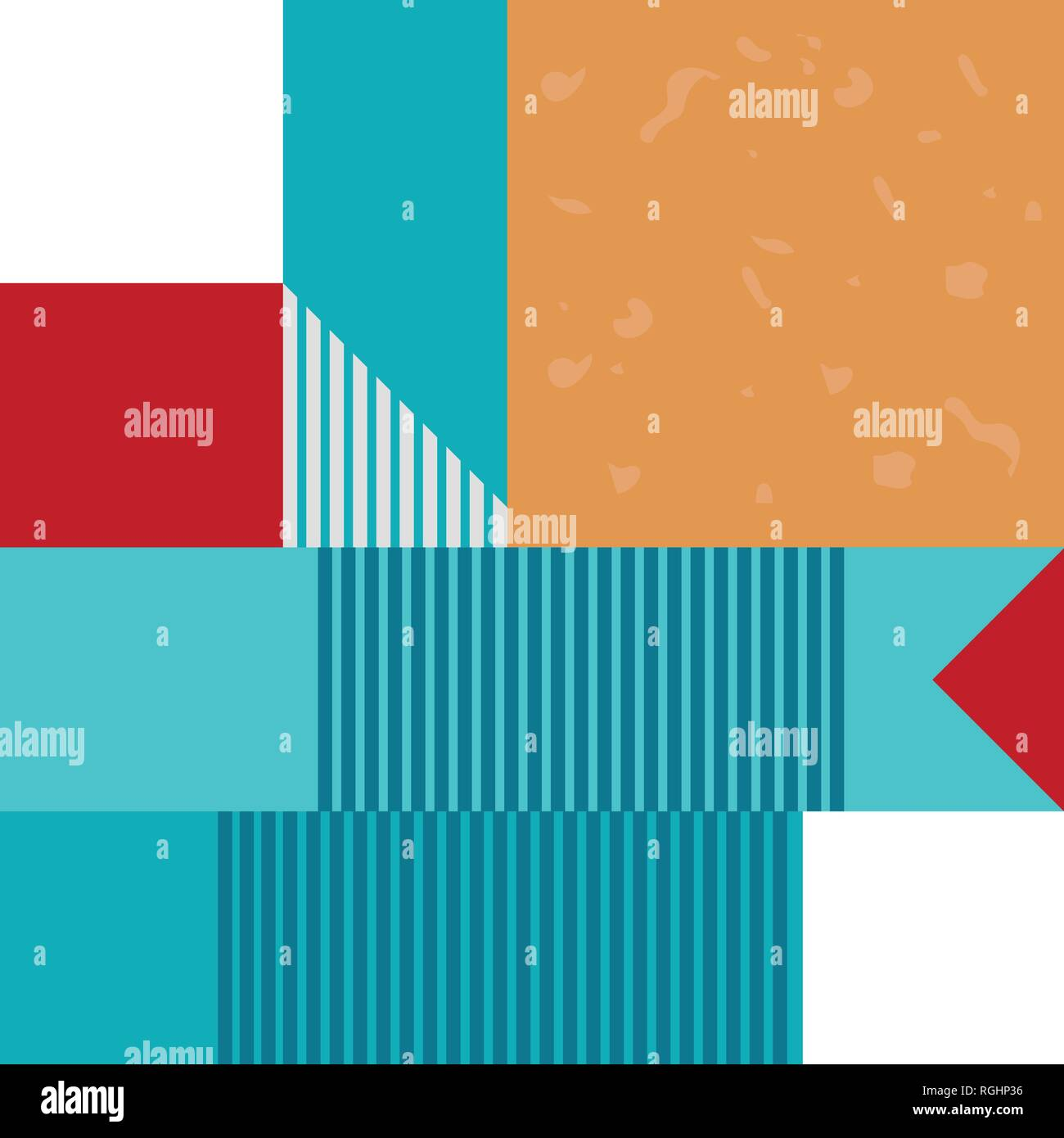 Abstract geometric seamless pattern or background. Poster, card, textile. Stock Vector