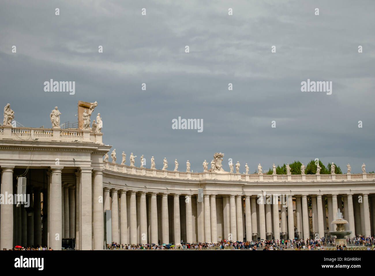 Right Wing of Saint Peter's Square, Vatican, Italy - Stock Image