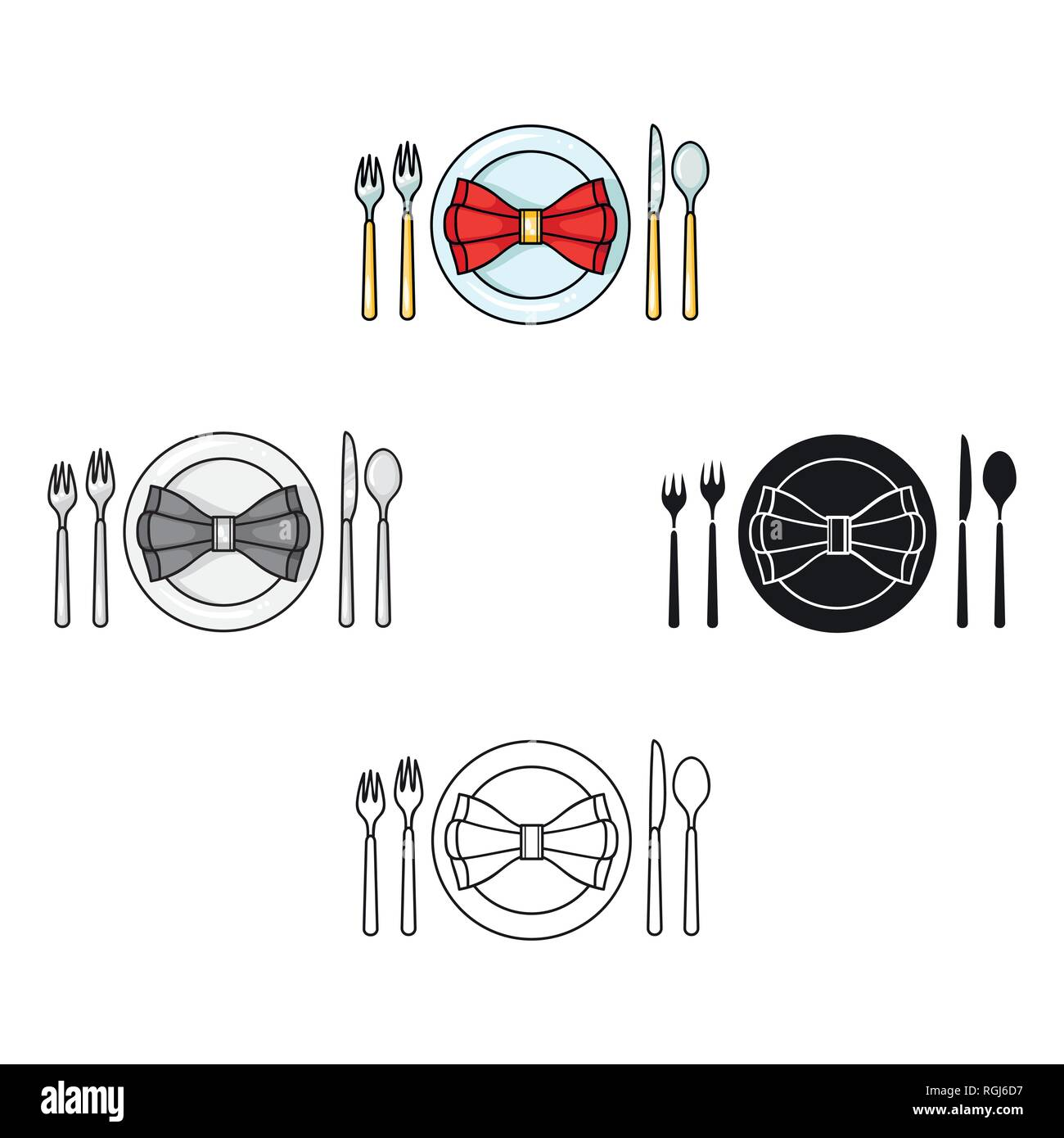 Restaurant Table Cartoonting Icon In Cartoon Style Isolated