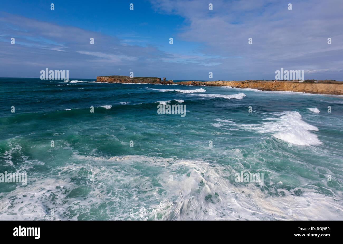 Cabo Carvoeiro, Peniche peninsula, Portugal - Stock Image