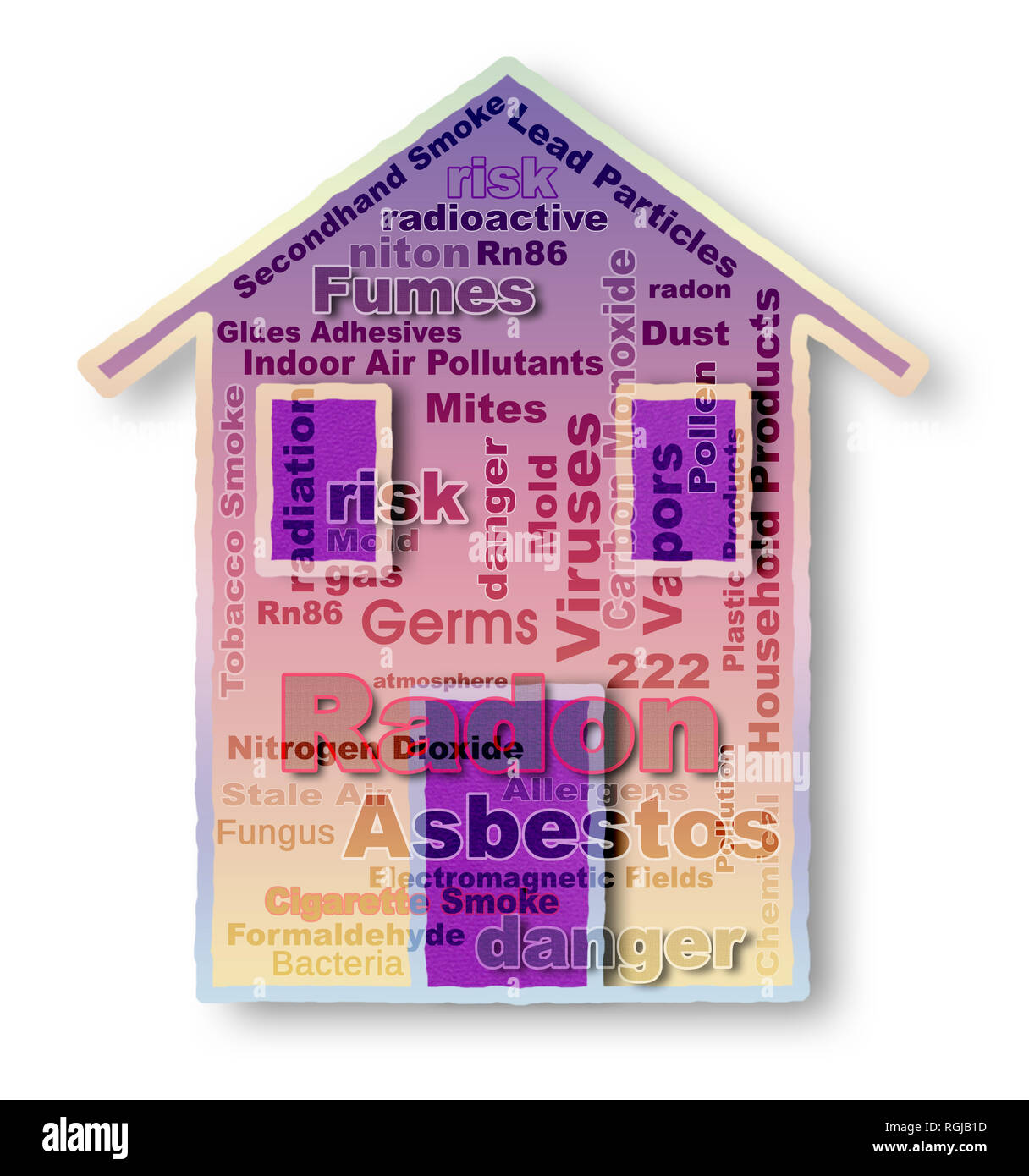 Check list of indoor pollutants - concept image - Stock Image