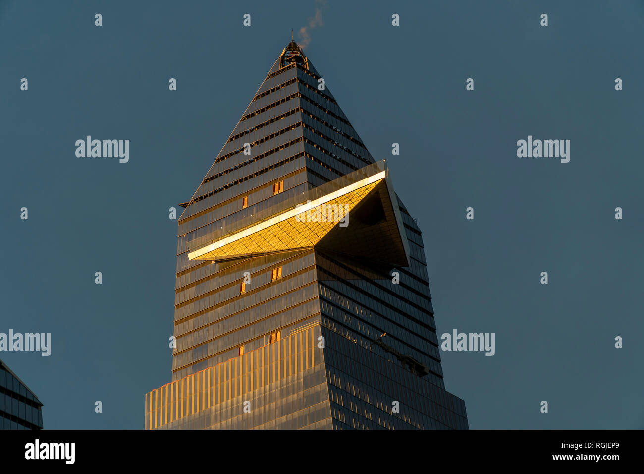 New York NY/USA-January 24, 2019 30 Hudson Yards showing the cantilevered observation deck, in New York on Thursday, January 24, 2019. (© Richard B. Levine) Stock Photo