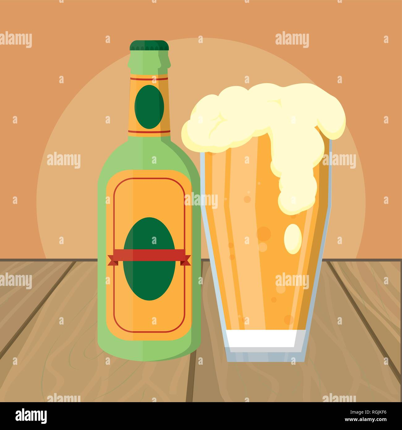 alcoholic drink cartoon Stock Vector