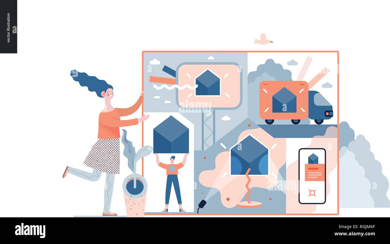 Technology 3 -Marketing and Promotion modern flat vector concept digital illustration marketing metaphor, company brand promotion. Business workflow m - Stock Image