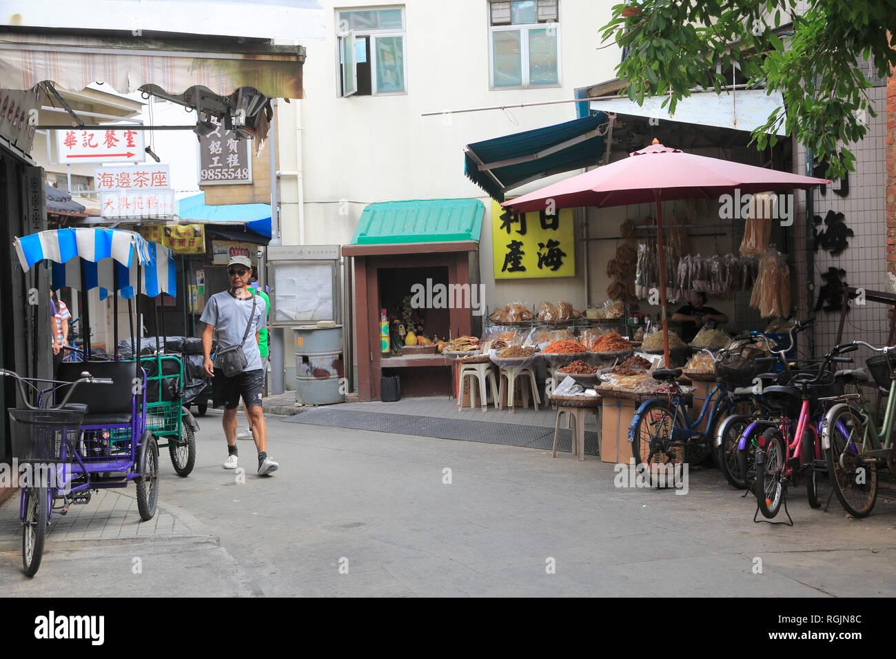 Tai O Fishing Village, Lantau Island, Hong Kong, China, Asia - Stock Image