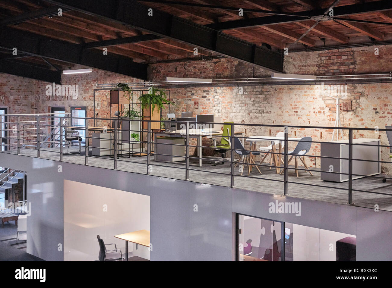 Interior Of A Modern Industrial Style Loft Office Stock Photo Alamy