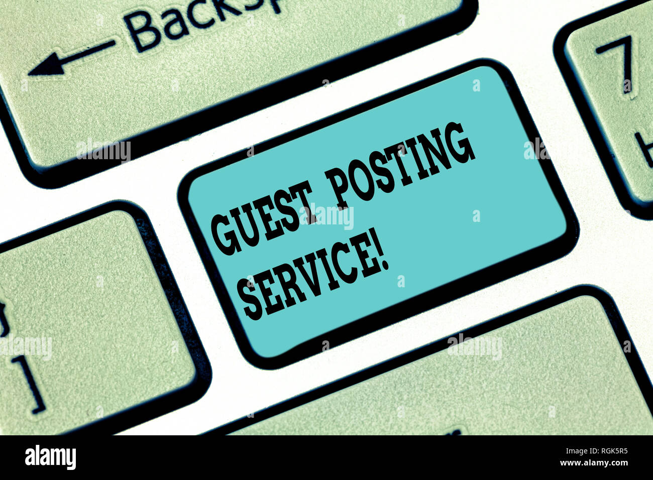 Conceptual hand writing showing Guest Posting Service  Business