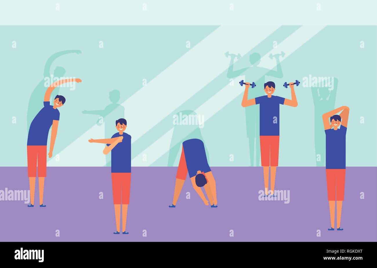 people active breaks Stock Vector
