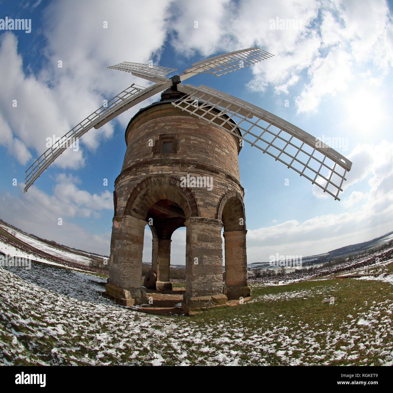 Chesterton Windmill, Leamington Spa, Warwickshire, England, UK - Stock Image