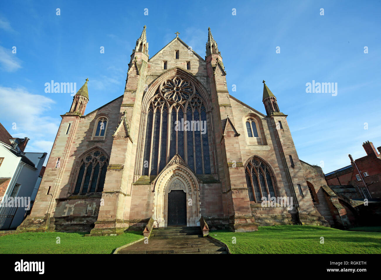Cathedral Church of Christ and the Blessed Mary the Virgin, of Worcester, 8 College Yard, Worcester, UK, WR1 2LA - Stock Image