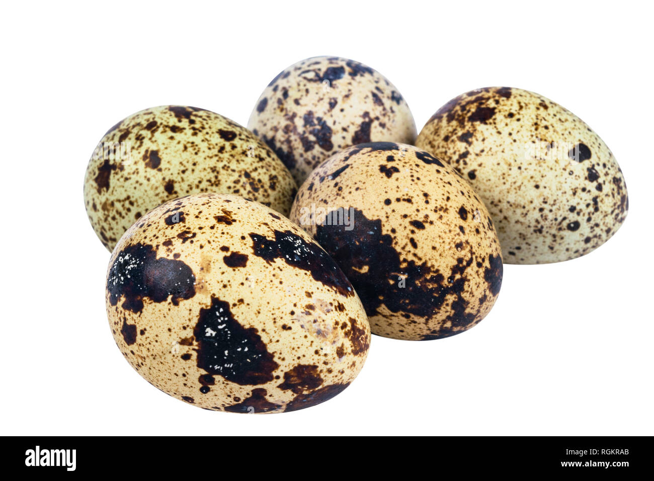 Isolated quail eggs. Big collection of quail eggs isolated on a white background. Healthy lifestyle concept - Stock Image