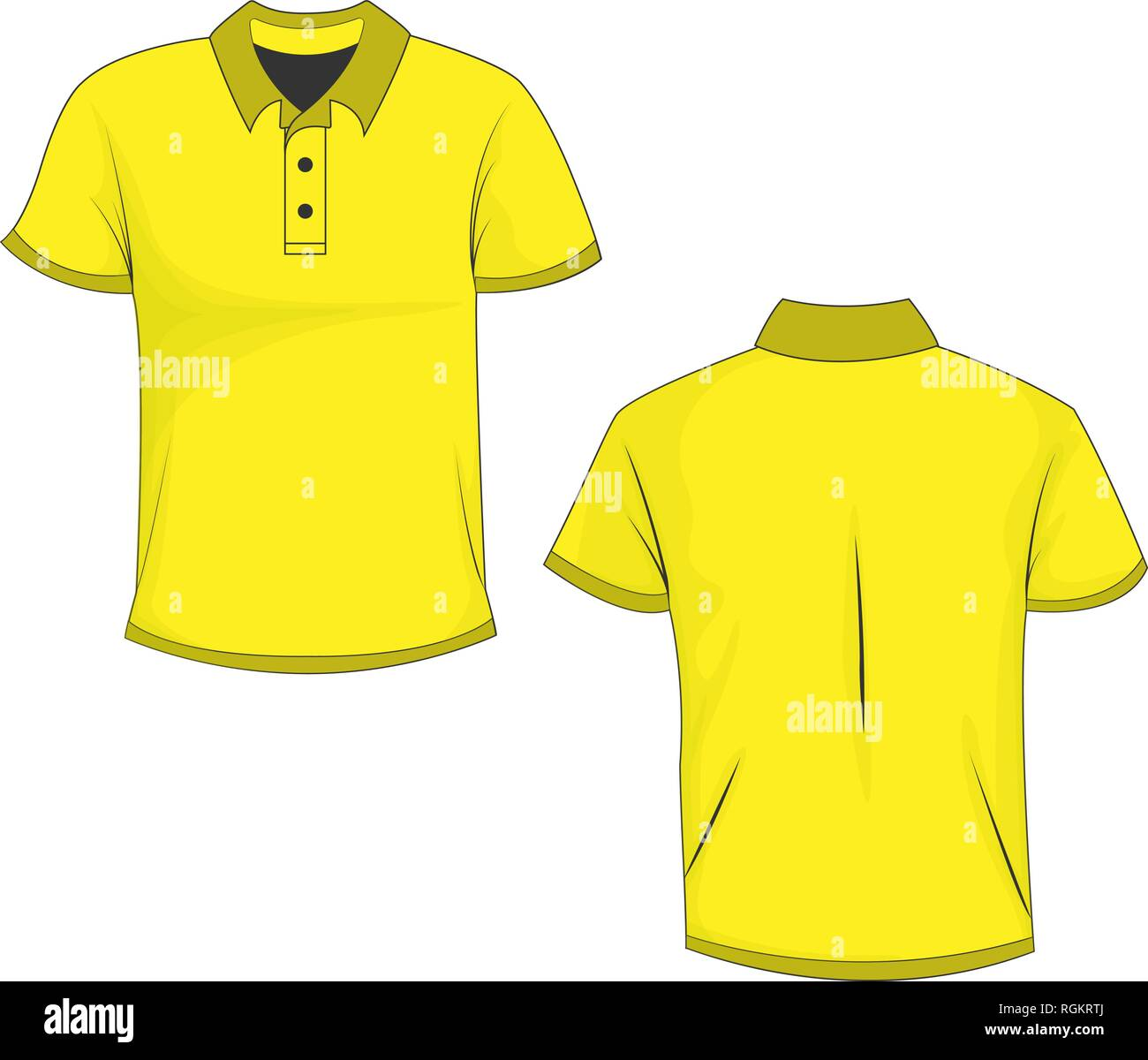 7a918d99d Yellow Polo Shirt Stock Vector Images - Alamy