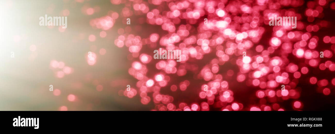 Glare in the water on a sunny day, blurred background. Web banner for design. - Stock Image