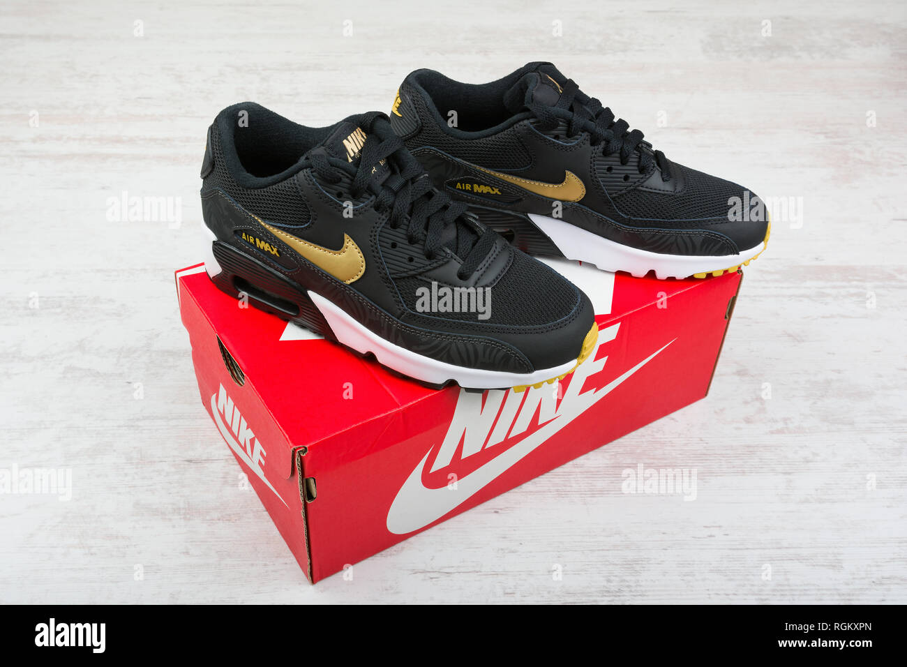 the latest dc7fb b5432 BURGAS, BULGARIA - DECEMBER 30, 2016  Nike Air MAX women s shoes - sneakers