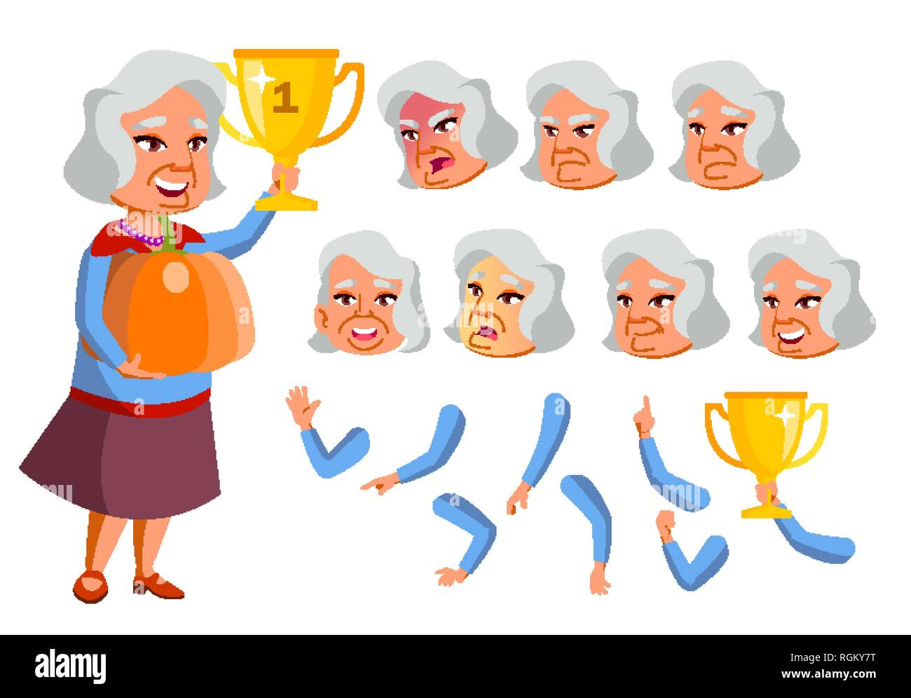 Old Vietnamese Woman Cut Out Stock Images & Pictures - Alamy
