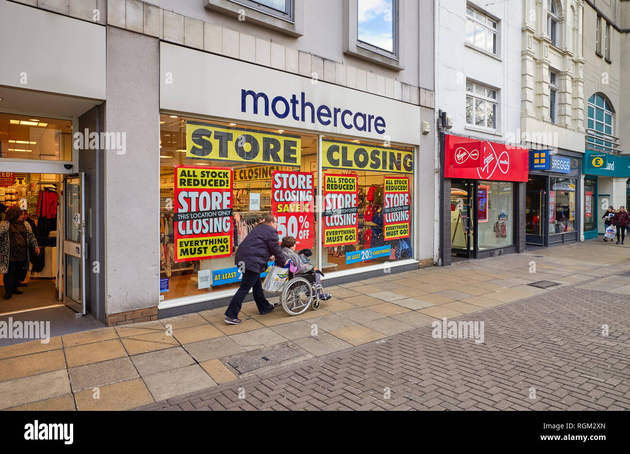 Mothercare store closing down in Commercial Road shopping centre, Portsmouth - Stock Image