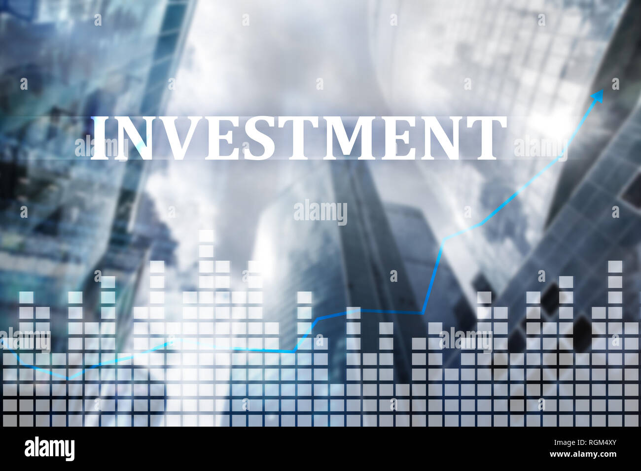 Investment, ROI, financial market concept. Business people - Stock Image