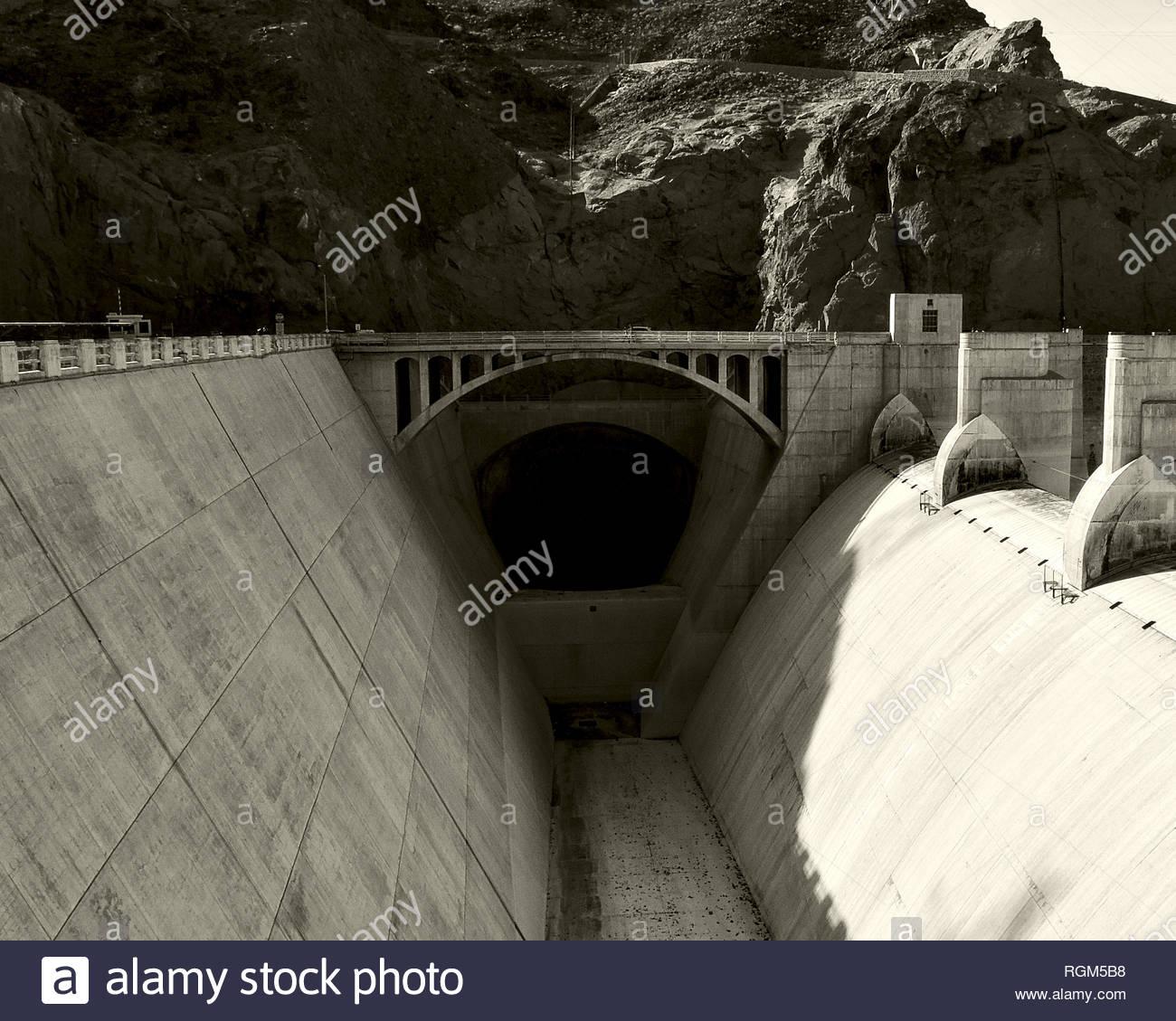 Hoover Dam Construction Not Bypass Stock Photos & Hoover Dam