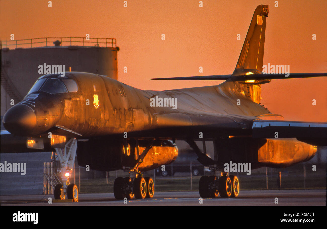 B1-B Strategic supersonic bomber - Stock Image