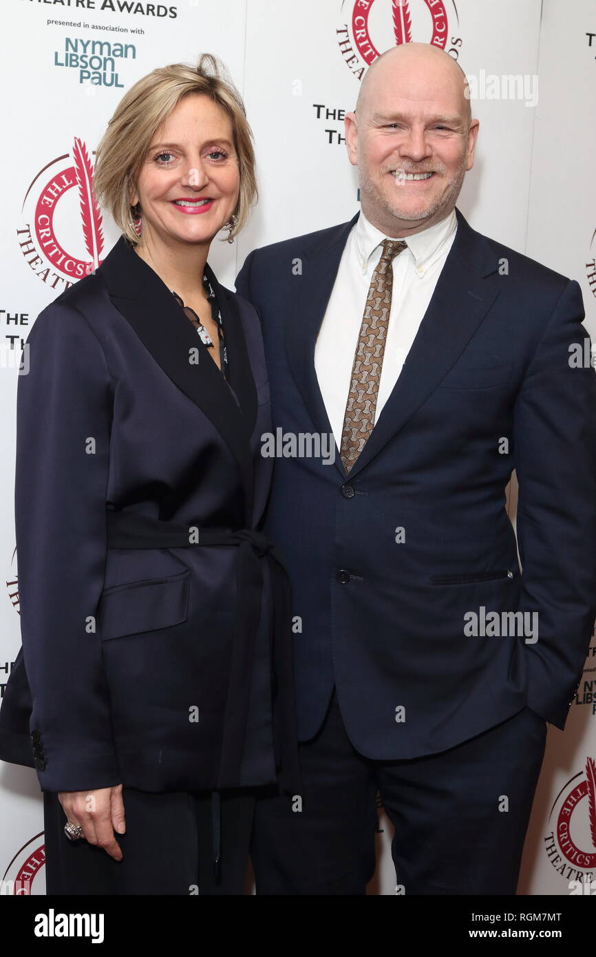 Marianne Elliott and Christopher Harper at The Critics' Circle Theatre Awards at the Prince of Wales Theatre, Coventry Street. - Stock Image
