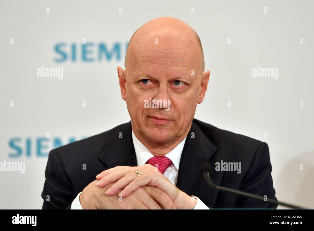 Press Conference At Siemens General Meeting Stock Photos