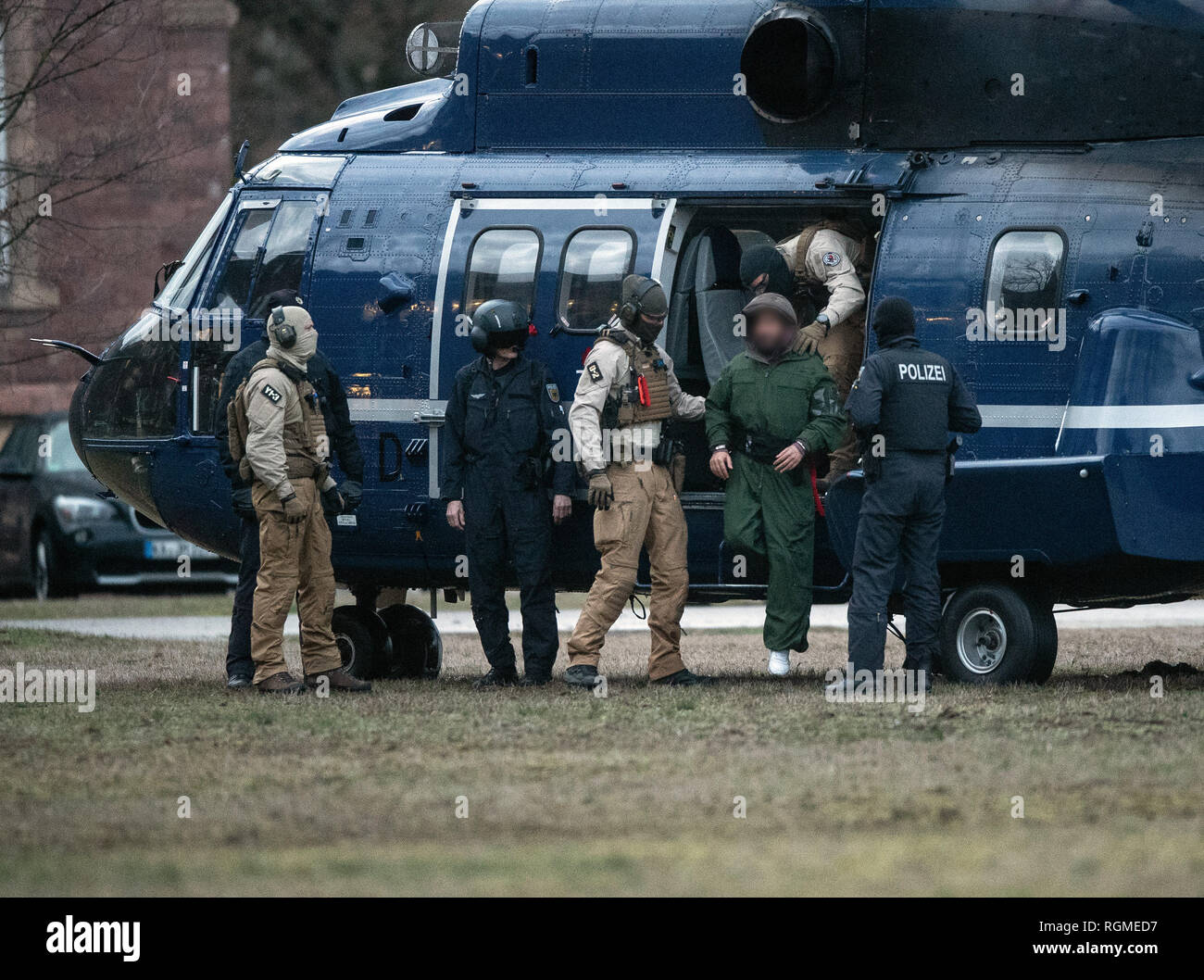 Karlsruhe, Germany  30th Jan, 2019  Federal police officers are