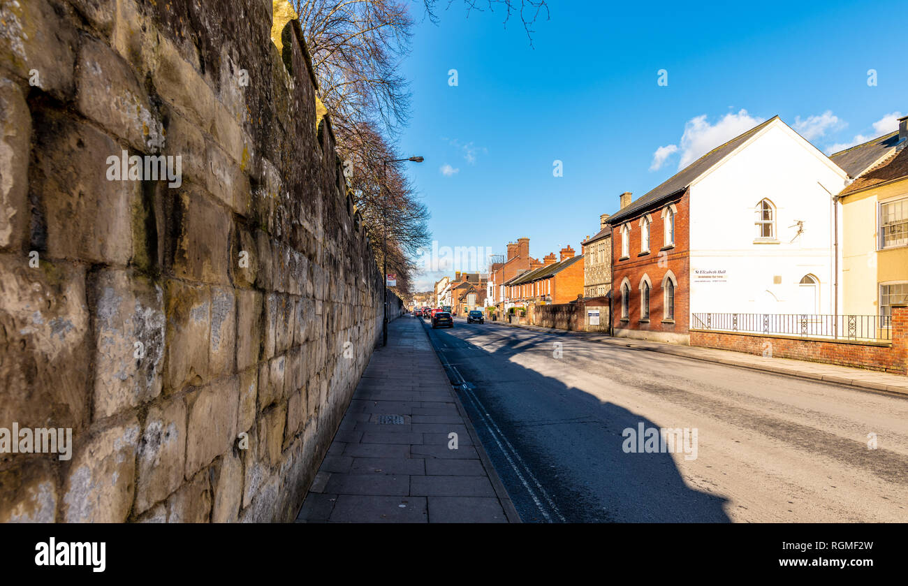 Salisbury, Wiltshire, UK. 30th January 2019. The streets of Salisbury are quieter than normal as the aftermath of the Novichok attacks affects visitor numbers. Credit: Thomas Faull/Alamy Live News Stock Photo