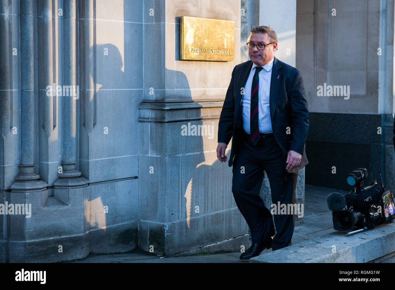 London, UK. 30th January, 2019. Brexiteer Mark Francois, Conservative MP for Rayleigh and Wickford, seen in Westminster. Credit: Mark Kerrison/Alamy Live News - Stock Image