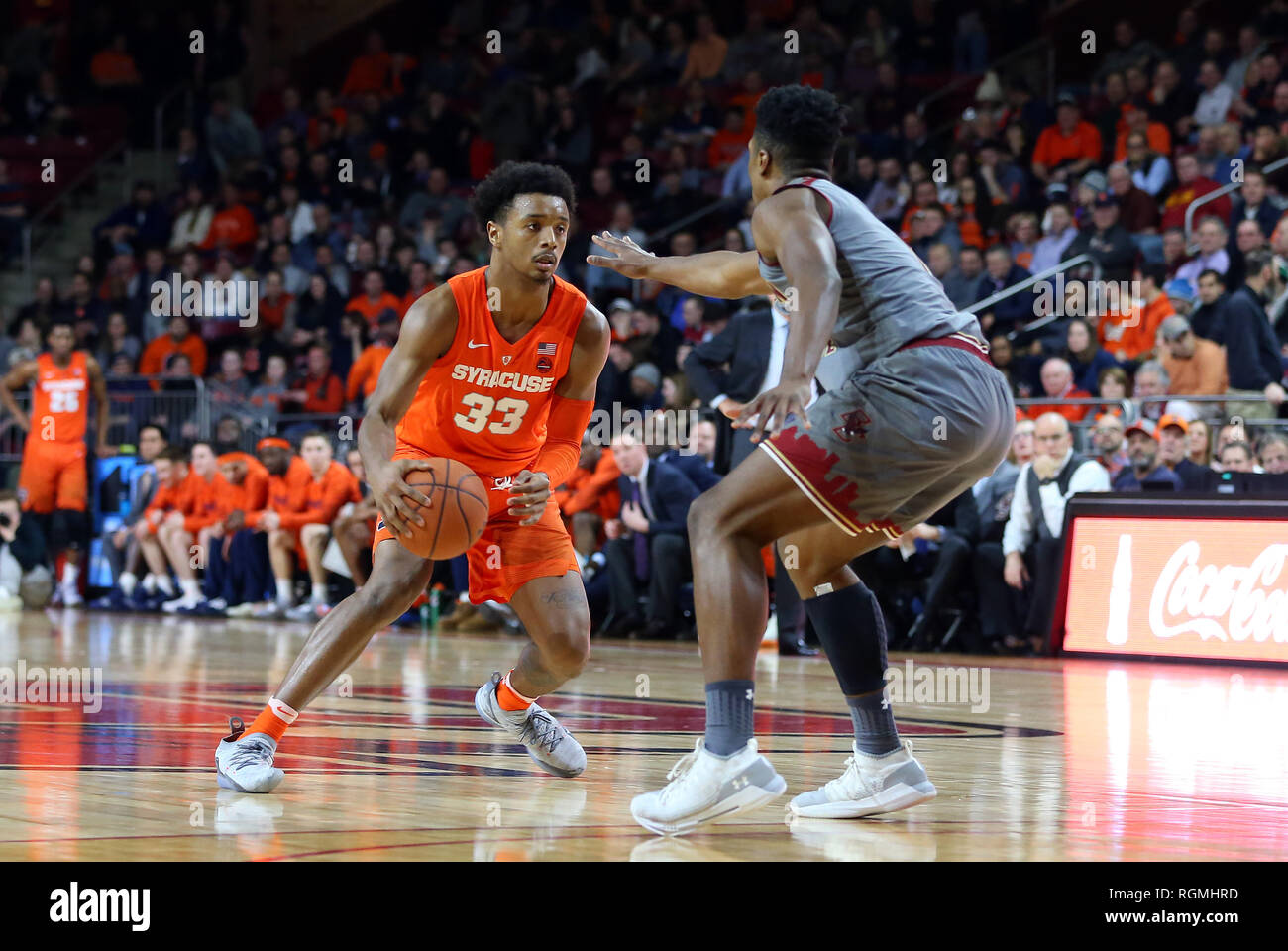 Conte Forum 30th Jan 2019 Ma Usa Syracuse Orange Forward Elijah