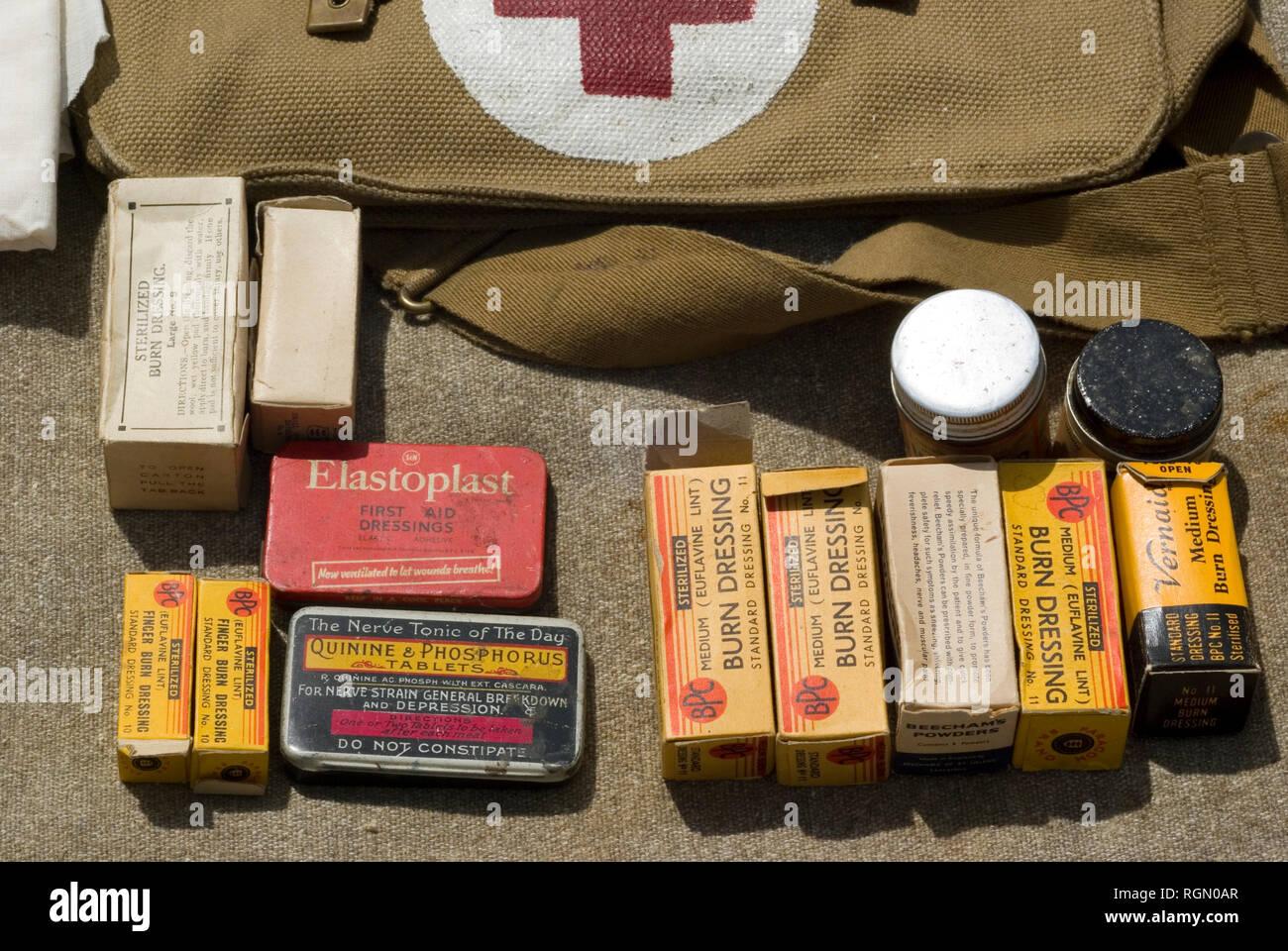 British WWII Medical Equipment - Stock Image