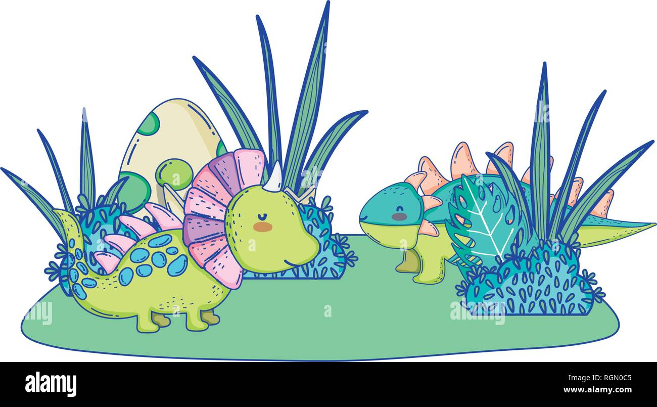 Vector Illustration Dinosaurs Cartoon Characters High Resolution Stock Photography And Images Alamy Kawaii clipart dinosaur, kawaii dinosaur transparent free. https www alamy com cute dinosaurs couple in the landscape characters image234030613 html