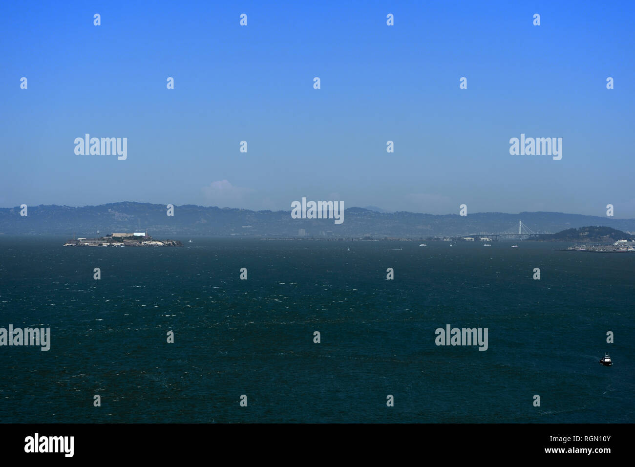 View of the San Francisco Bay in the morning. California, USA - Stock Image