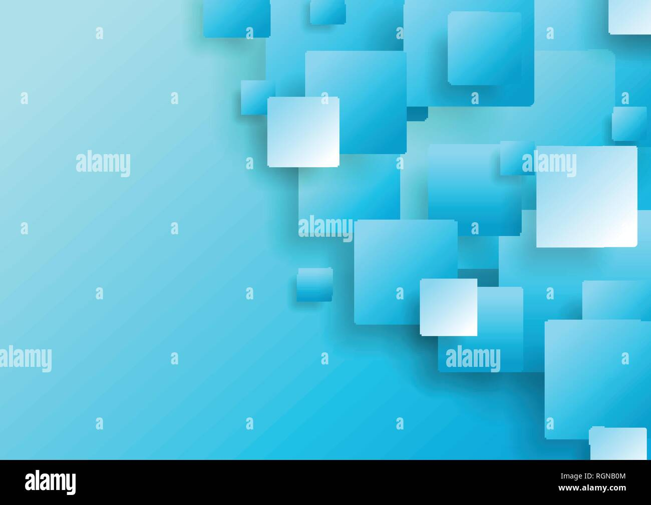 Light Blue Abstract Tech Squares Concept Vector Background