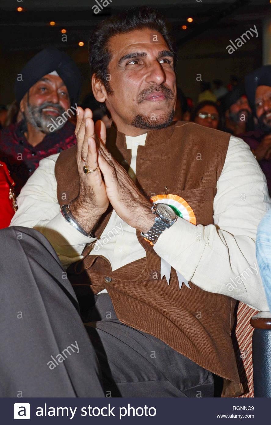 Bollywood actor Mukesh Rishi during an event organized by Punjabi association, on the occasion of Baisakhi festival in Mumbai, India on April 13, 2013. (Shripad Naik) - Stock Image