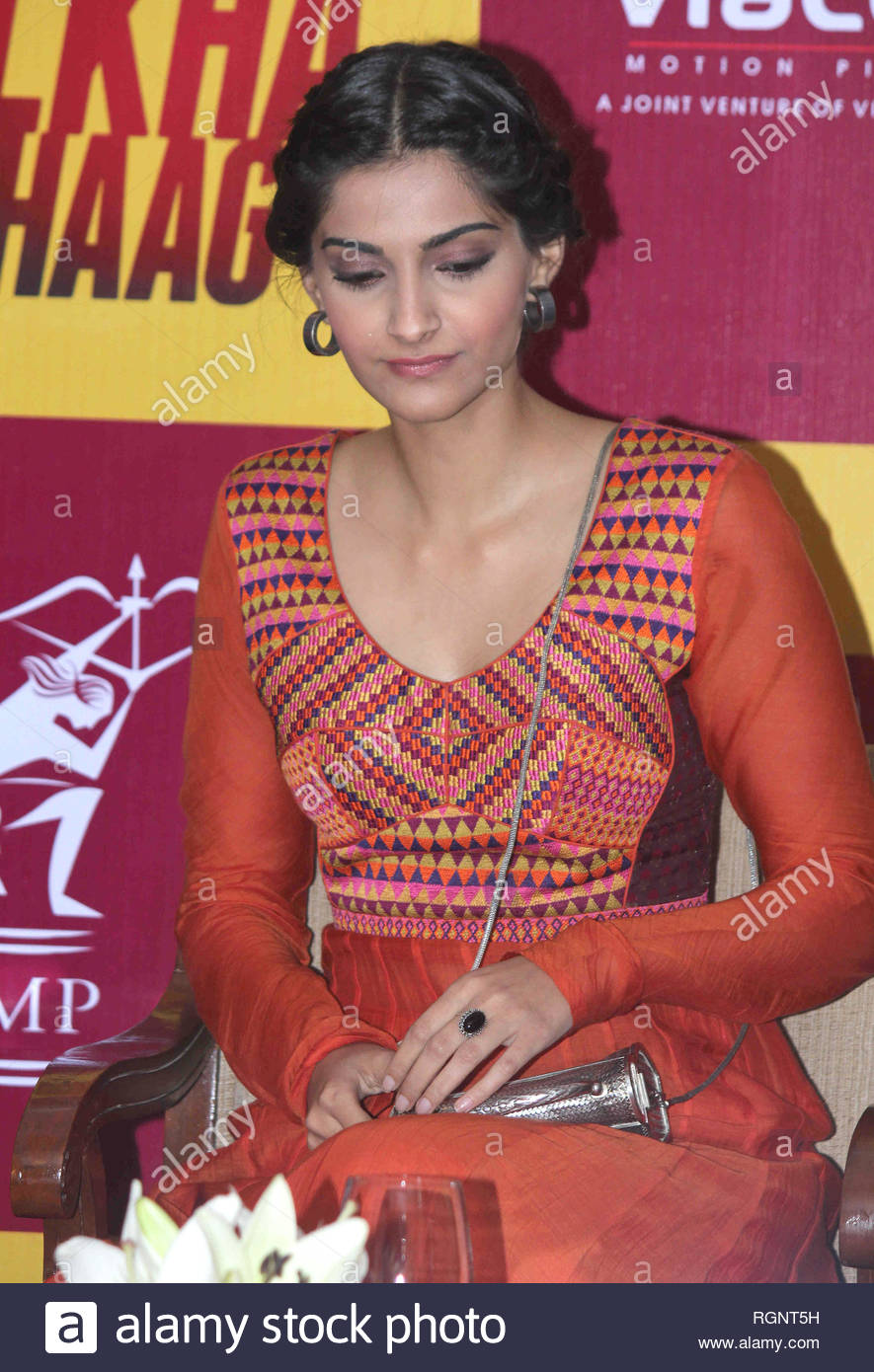 Bollywood actor Sonam Kapoor during the announcement with