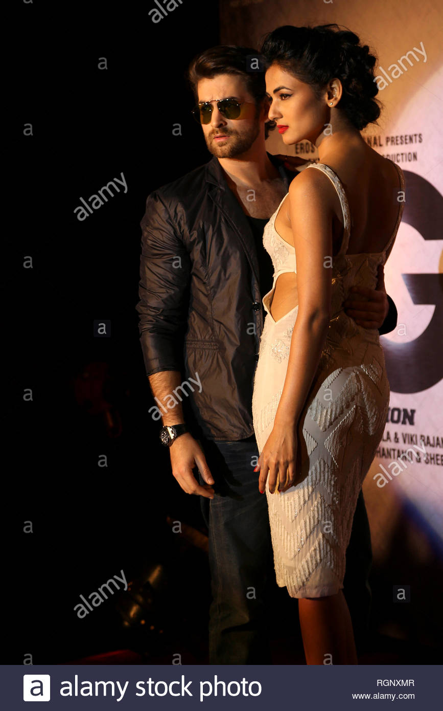 Bollywood actors Neil Nitin Mukesh and Sonal Chauhan during music and trailer launch of his horror film 3G in Mumbai, India on February 15, 2013. (Aakash Berde) - Stock Image
