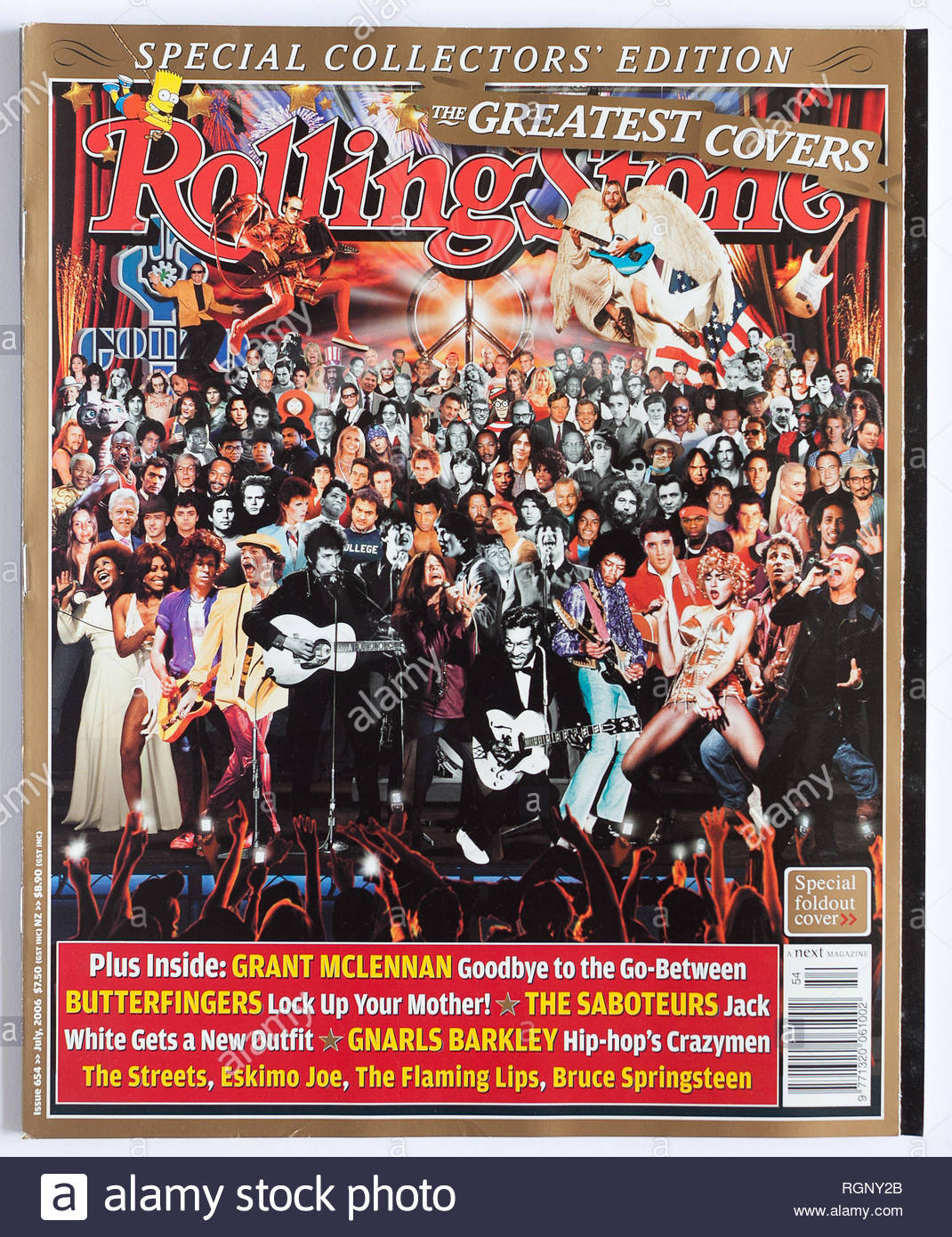 The cover of Rolling Stone issue 654, The Greatest Covers - Stock Image