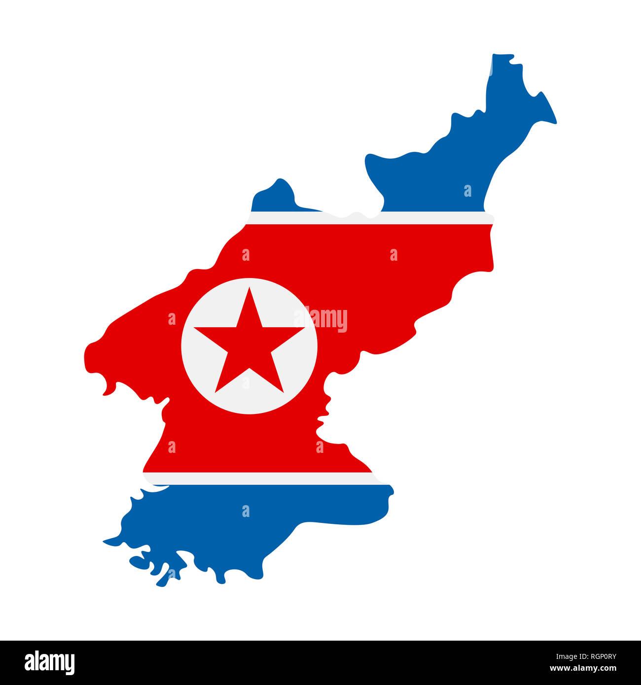 North Korea Outline Stock Photos North Korea Outline Stock Images