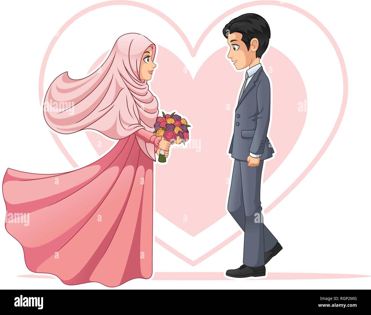 Cartoon muslim couple stock photos cartoon muslim couple