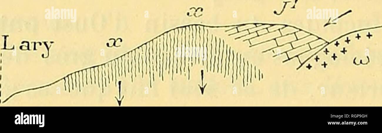 . Bulletin de la Société géologique de France. Geology. 440 CARALP. â SUR LE FLYSCH A FUCOÃDES DK LA BELLONGUE 19 Juin gressivité par les dolomies de l'oolite et les calcaires néocomiens. Les dislocations sont encore plus accusées dans la gorge de Lachein (fig. 4) : à Beouech, en efïet, le système x représenté par des schistes carbures, plus ou moins riches en phosphates de chaux, et plus à l'ouest par des grès, est recouvert soit par le Trias, soit par le Sinémurien ou les dolomies de l'oolite (J3), soit, comme à la Hourcade, par le Crétacé inférieur (G1) de l'Embès. Saint-Lar - Stock Image