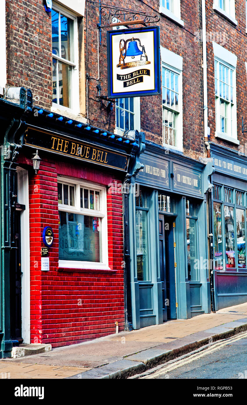 The Blue Bell, Fossgate, York, England - Stock Image