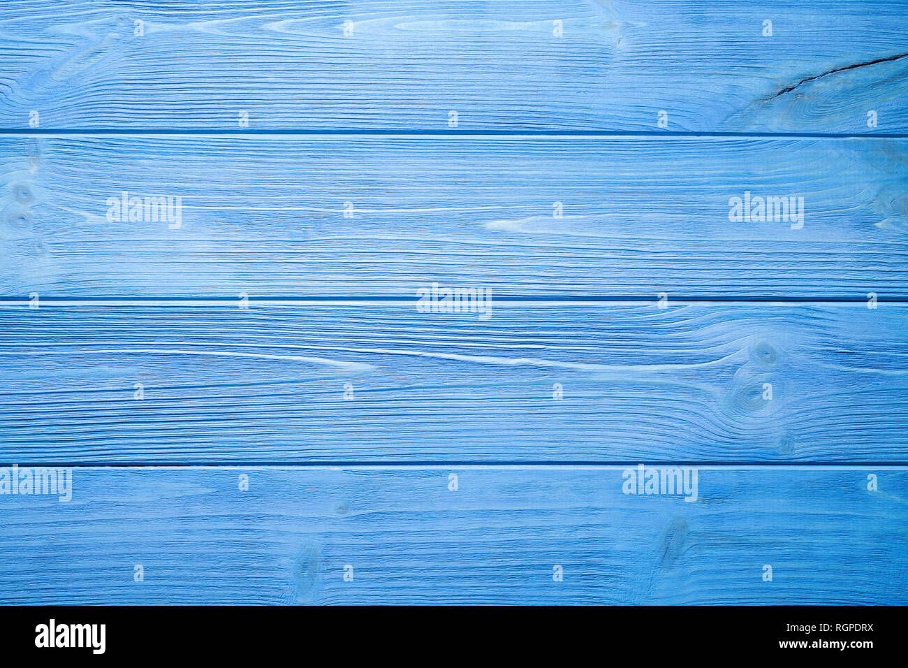 Blue planks - wooden wall background or texture - Stock Image