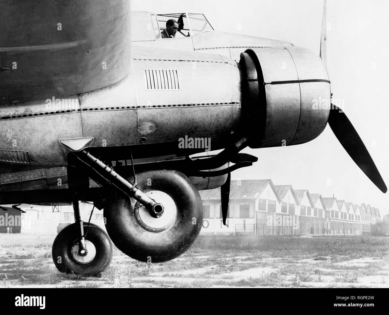twin-engine caproni ca. 123, 1930-40 - Stock Image